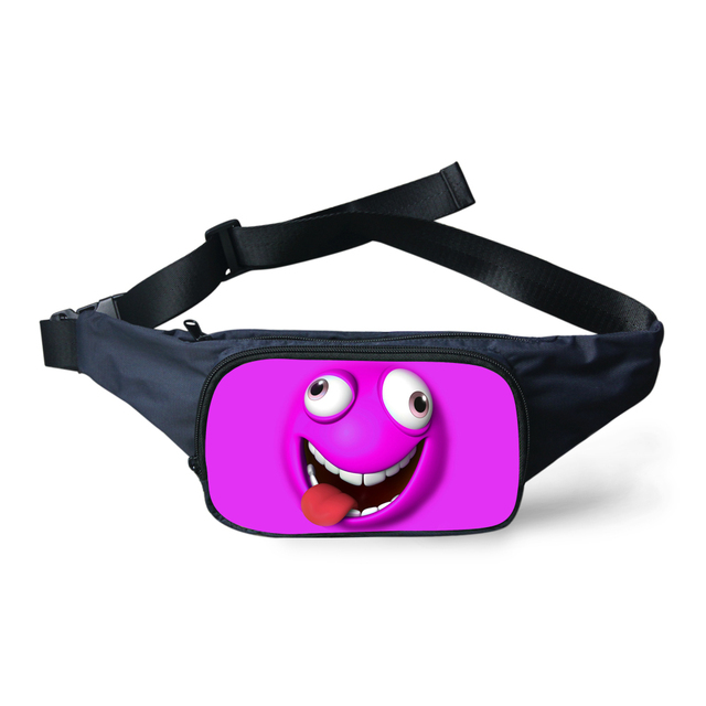 6f4cce3ffe1 FORUDESIGNS Funny Emoji Printed Waist Bag For Women Cute Smile Girl Fanny  Pack Fashion Waterproof Belt Waist Pack Military Bags-in Waist Packs from  ...