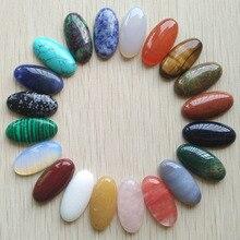 Großhandel 20 teile/los mode verschiedene naturstein oval form cab cabochon perlen für Schmuck zubehör, der 15x30mm freies