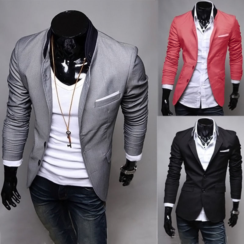 09af15026d30a Men Blazer New Arrival Two Button Blazer masculino Casual Slim Fit Jacket  Man 3 Colors Suits Jackets-in Suit Jackets from Men s Clothing on  Aliexpress.com ...
