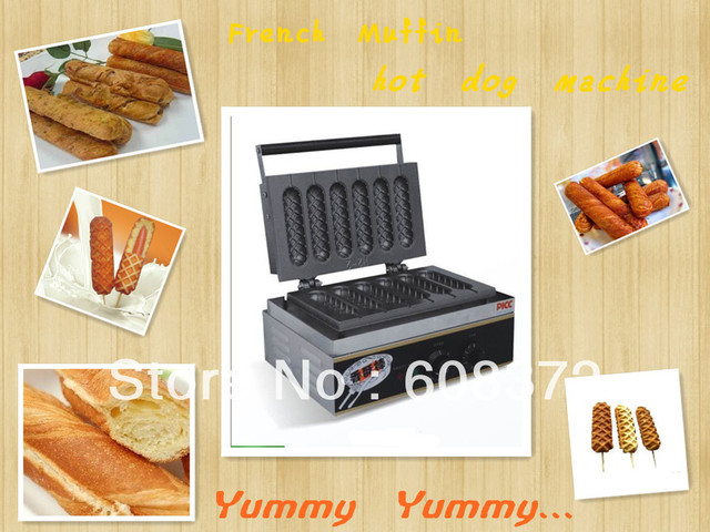 hot sale, french muffin hot dog machine with 6 pieces