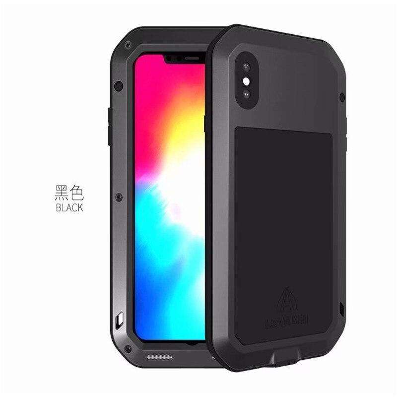 1 шт. чехол для iPhone Xs максимально сверхпрочный защиты Броня металлический Алюминий противоударный пылезащитный чехол для iPhone X XR Xs Max - Цвет: Black