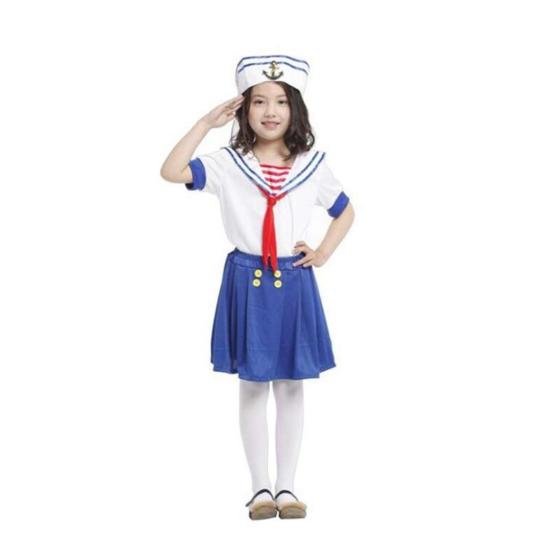 Halloween Cosplay Carnival Costumes Girls Table Cute Maquerade Little Sailor Business Attire Navy Suit For Role Playing Party