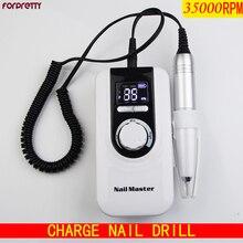Nail Drill 35000 Lixa Eletrica Para Unha Brocas De Ponceuse Ongle Tools Frezarka Do Paznokci Torno Manicura y Pedicura Machine