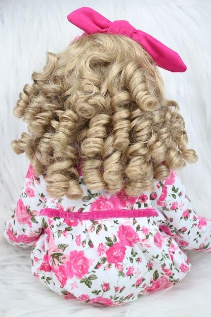 60cm Silicone Reborn Baby Doll Toys 24inch Vinyl Princess Toddler Girls Babies Dolls With Plush Rabbit