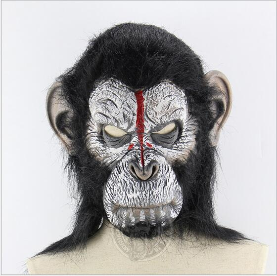 Costumes & Accessories Novelty & Special Use Enthusiastic Animal Masks Latex Animal Themed Costumes Monkey Orangutan Mask Cosplay Prop Halloween Accessories Men Women Face Mask Full Head At All Costs