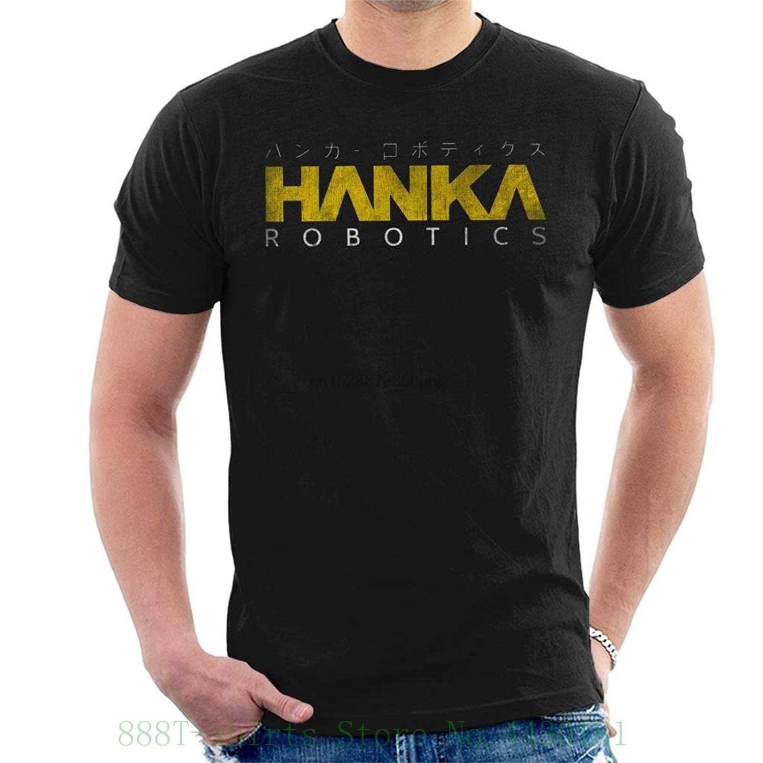 Ghost In The Shell Hanka Robotics Men T Shirt 100% Cotton แขนสั้น O - Neck เสื้อ Tee ชาย Hipster Tops plus ขนาด