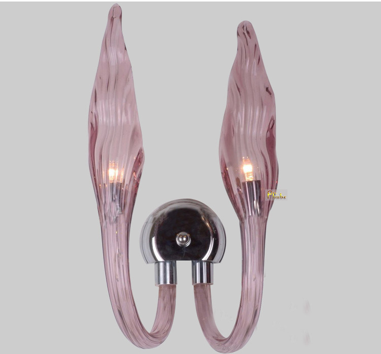 Italy Murano Glass Wall Light Modern Flame Wall Lamp Creative Art Glass Sconce Light Free shipping