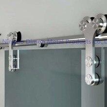 Dimon Горячая Америка стиль нержавеющая сталь 304 матированное стекло раздвижные двери сарая оборудование DM-SDG 7008 без бара
