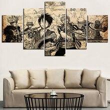 One Piece Wano Arc 5 Piece Canvas Wall Art