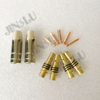 15AK MIG welding torch consumables nozzle,contact tip M6*25 0.8mm and tip tolder each 50pcs