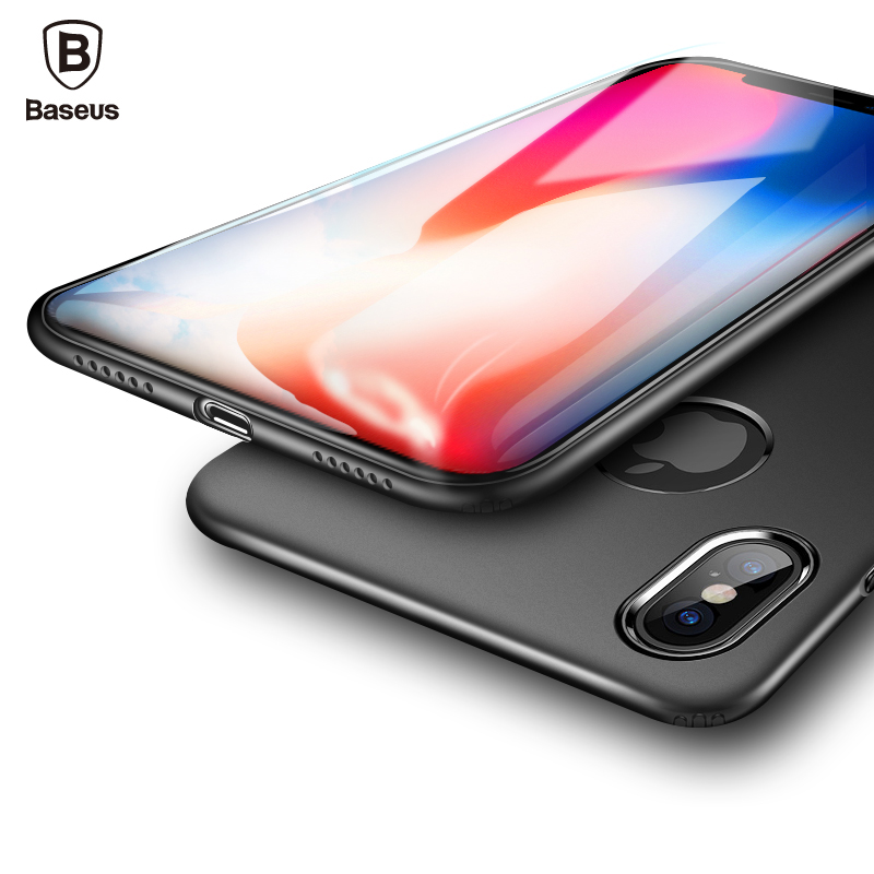 Baseus Soft TPU Silicone Case For iPhone X 10 Coque Luxury Ultra Thin Slim Back Cover Case For Apple iPhone X IX I10 Capinhas