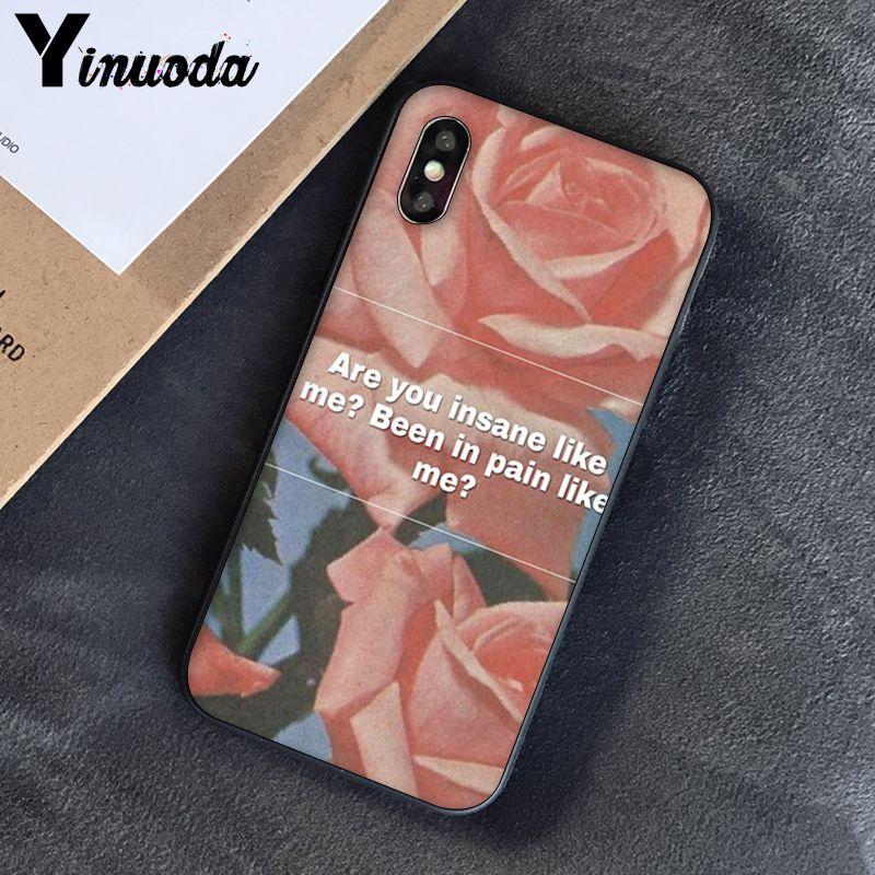Yinuoda, розовый, эстетический, песни, лирика, эстетический, мягкий силиконовый чехол для телефона, чехол для iPhone 8, 7, 6, 6 S, 6 Plus, X, XS, MAX, 5, 5S, SE, XR, 10 - Цвет: A13