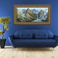 Alpine landscape oil painting on canvas made by professional artist hand made high quality reproduction oil painting canvas
