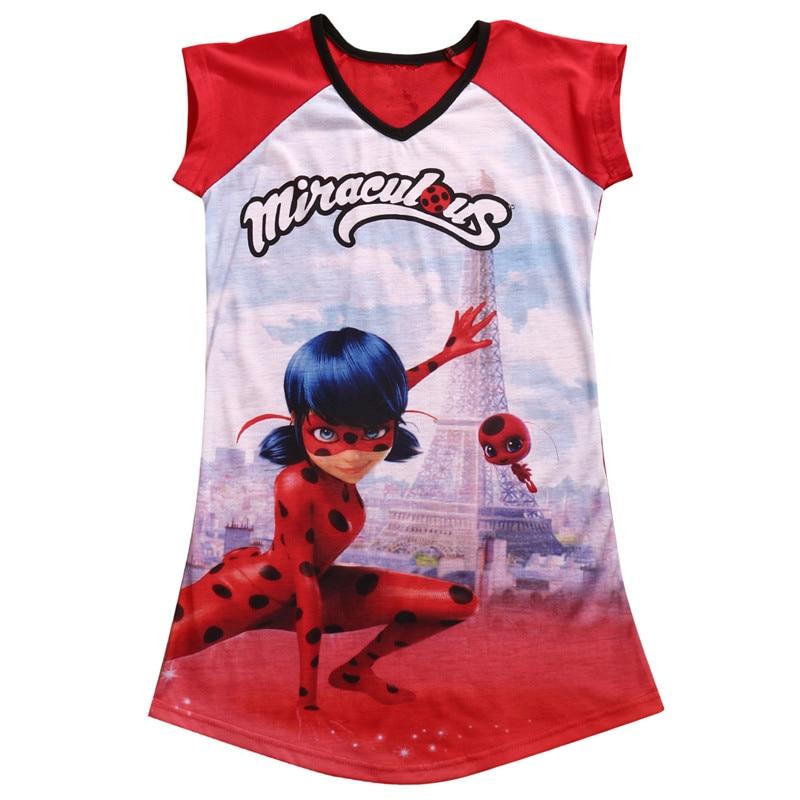 Big Girls Miraculous Ladybug Dress Summer Short Sleeve Casual Beach Age 5-16Y