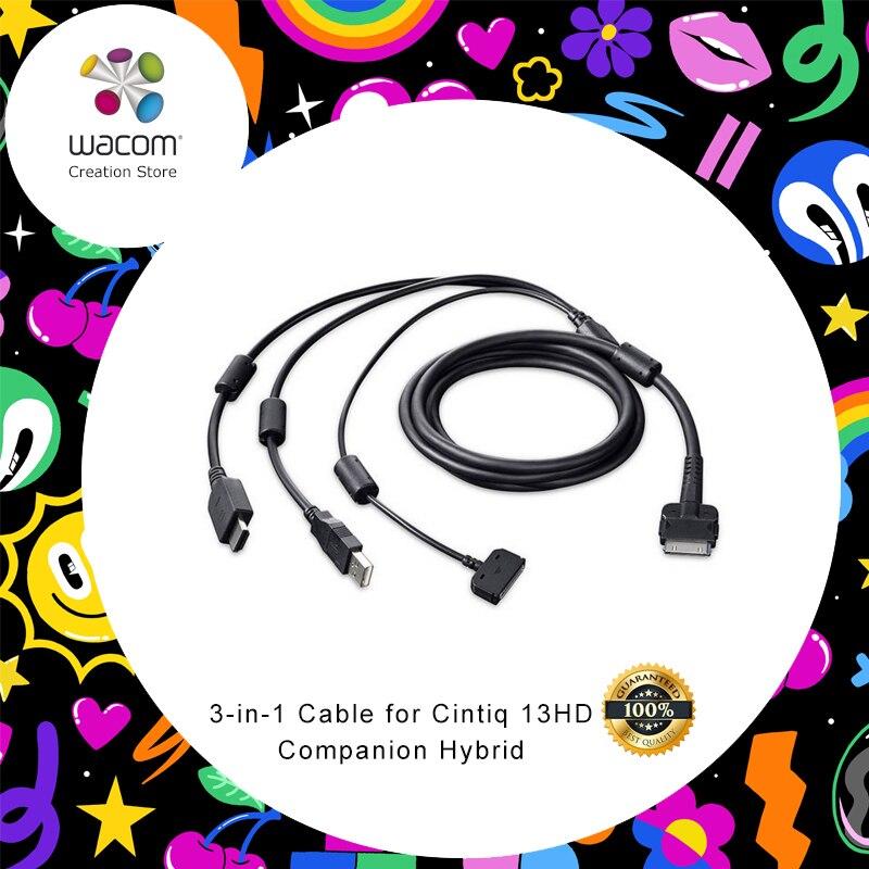 Câble Wacom 3-en-1 (USB/HDMI/alimentation) pour Cintiq 13HD et Cintiq partner Hybrid