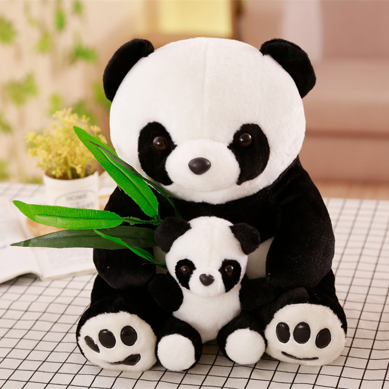 New Plush Panda Toys Cute Stuffed Animal Doll Mother And Son Toy Gift For Children Friends Girls  Home Decor Christmas Gift