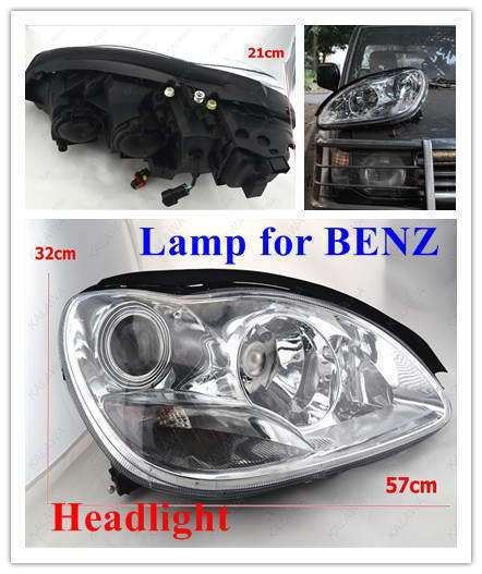 HEAD LAMPS FOR BENZ S350 /W220 E-mark auto lighting Chrome-plated BZ061 FFF FREESHIPPING