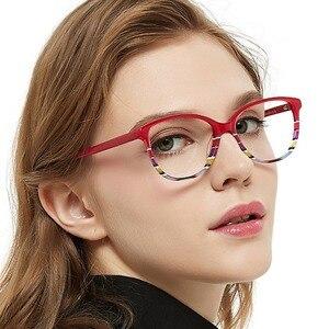 Image 3 - OCCI CHIARI Spring Hinges Prescription Lens Medical Optical Eyeglass Woman Frame Stripes Colorful Navy Red Italy Design W CORRU
