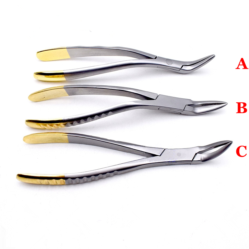 1PC Dental Residual root forceps Apex clamp Extraction pliers dentist instruments tools Model ABC