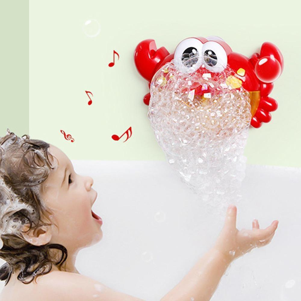 Мягкая подушка для ванны для новорожденного ребенка, плавающая Подушка с воздушной подушкой, подушка для купания малыша, подушка для душа, пищевая пена - Цвет: Crab Bubble Machine