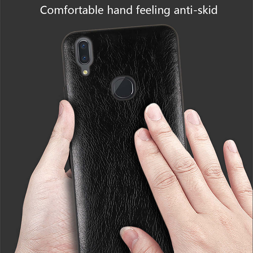 For Vivo V9 Case Advanced Leather Protective Back Cover Mobile Phone Single Shell Crazy Horse Texture Slim Skin Protector Bag In Fitted Cases From