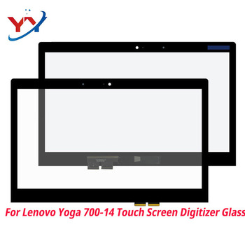 14 inch Touch Screen Panel digitizer outer glass sensor Replacement parts  for Lenovo Yoga 700-14ISK 80QD