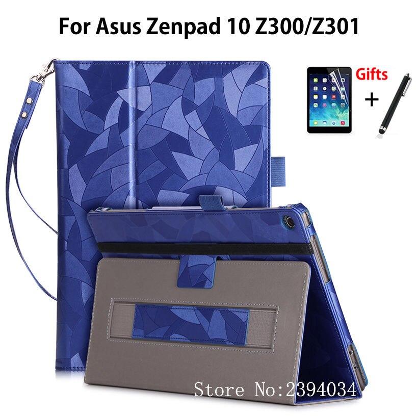 Cas Pour ASUS Zenpad 10 Z301MFL Z301ML Z301 10.1 couverture Fondamentale Stand Tablet Case Pour Asus Zenpad 10 Z300CL Z300C/M Z300CNL + cadeaux
