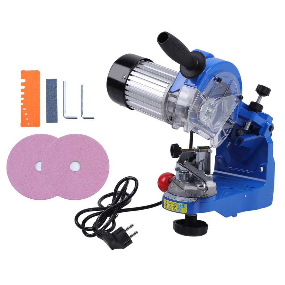 Powerful 230W Electric Chain Sharpener Saw Chain Grinder Device Grinding Machine Tool 3000RPM EU Plug ES009 professional manual dog acupuncture model animal acupuncture model