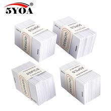 50 pces lêem somente o cartão grosso da identificação do em cartão rfid 4100/4102 reação 125khz cartão rfid cartão de identificação apto para o comparecimento do tempo do controle de acesso