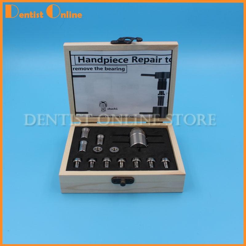 1 set Dental Handpiece Repair Tool Bearing Removal & Installation Cartridge Maintenance Chucks Standard\Torque\Mini