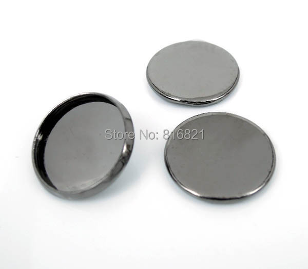 Blank Round Bezel Settings Cabochon Base Findings for Floating Charm Lockets Making Gunmetal Black 8mm 10mm 12mm 14mm 16mm 20mm-in Jewelry Findings & Components from Jewelry & Accessories    1