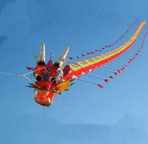 Бесплатная доставка, высокое качество, 7 м Китайский традиционный змей дракона, китайский змей, украшение, воздушный змей, фабрика weifang, игру...