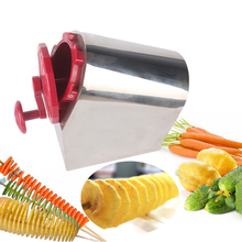 ITOP Spiral Potato Cutter Rotate Tornado Slicer Stainless Steel Carrot Slicing DIY Vegetable Creative Machine