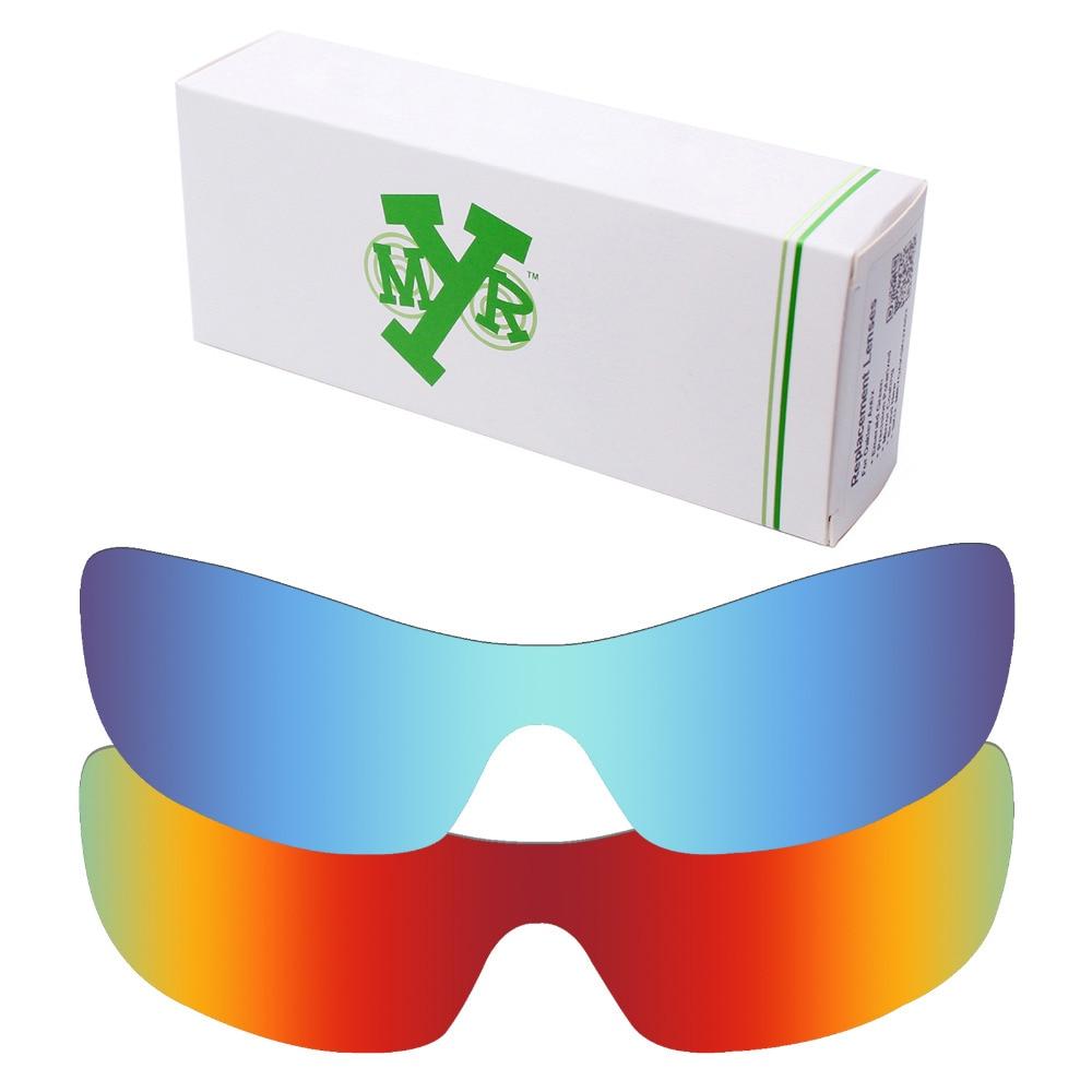 2 kusy Mryok Anti-Scratch POLARIZED Náhradní čočky pro brýle Oakley Antix Brýle Fire Red & Ice Blue