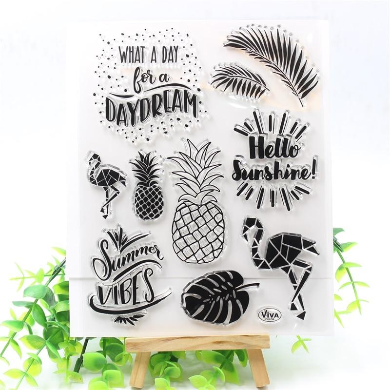 Прозрачные силиконовые штампы Hello Sunshine для скрапбукинга/изготовления карт/детских ремесел, забавные украшения