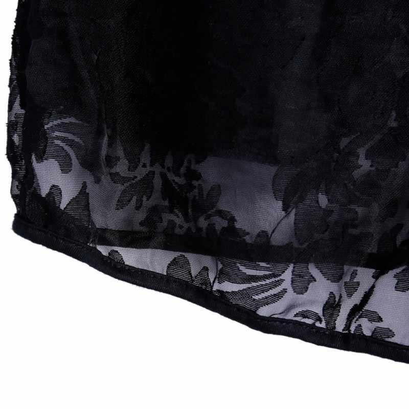 Damskie ściągana na sznurek spodenki Sexy czarne koronki Sheer Floral Hollow Out lato elastyczna strona szorty na podróże majtki