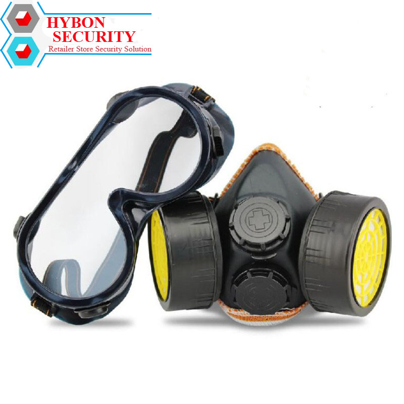 Protector Desbrozadora Protective Respirator Mask Industrial Chemical Gas Mask Dual Valve Full face Anti-Dust Workout Mask high quality respirator gas mask provide silica gel gray protective mask paint pesticides industrial safety mask