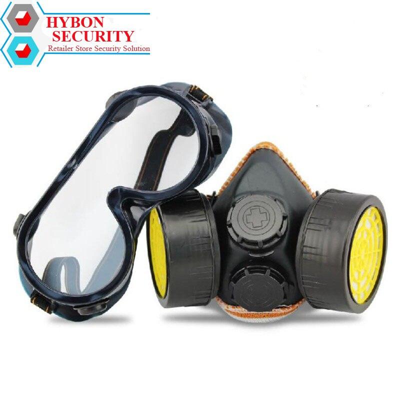 Protector Desbrozadora Protective Respirator Mask Industrial Chemical Gas Mask Dual Valve Full Face Anti-Dust Workout Mask