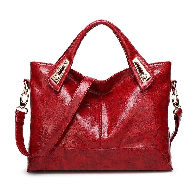 Fashion Messenger Women bag Casual Popular Handbags sac PU Leather Shoulder Bags for women Oil wax Crossbody Bags bolso mujer