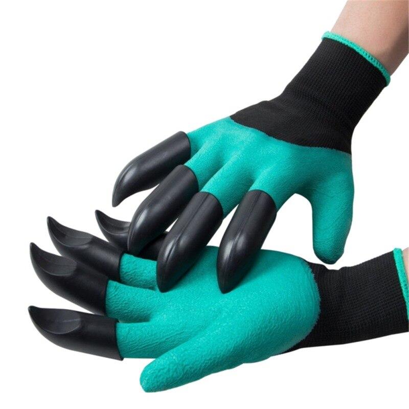 Для работы в саду перчатки с кончиками пальцев когти Genie перчатки грабли копание, рассада латексные рабочие инструменты домашняя теплица пр...
