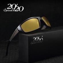 20/20 Новый Ночное видение Солнцезащитные очки для женщин Для мужчин Брендовая Дизайнерская обувь мода поляризованный ночного вождения Enhanced Свет Anti-glare Очки PL295