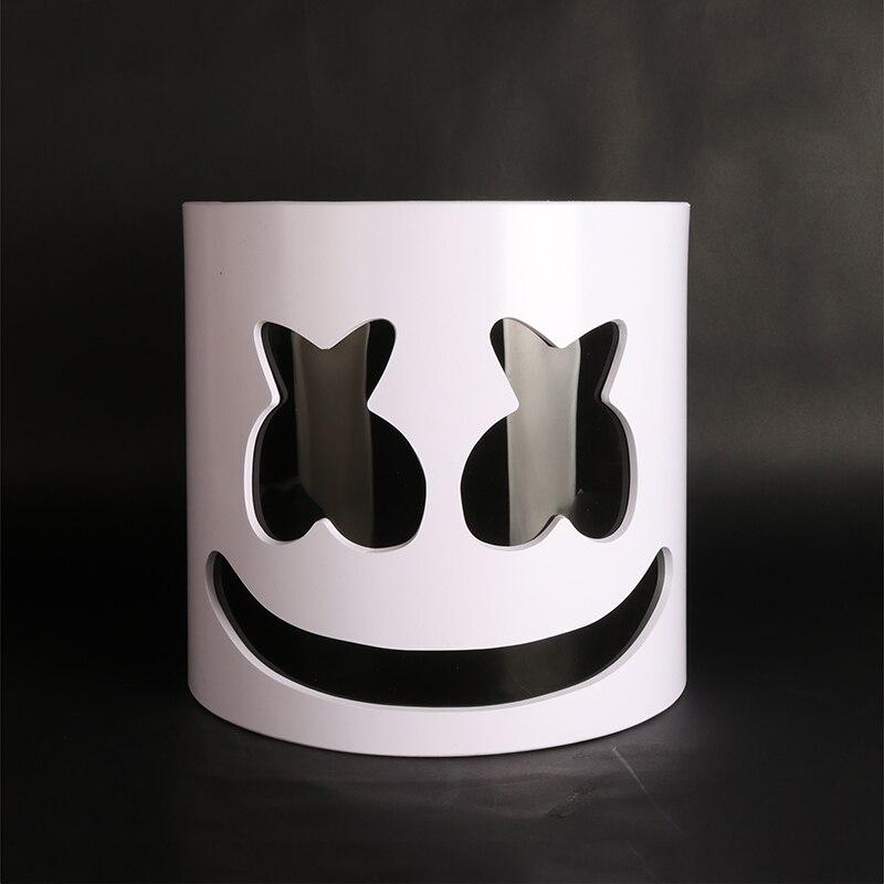 ¡Tipo Flash! casco de malvavisco de PVC DJ Marshmello máscara accesorios de concierto futuro Bass Marshmello ventiladores de música Prop Bars Prop sin LED