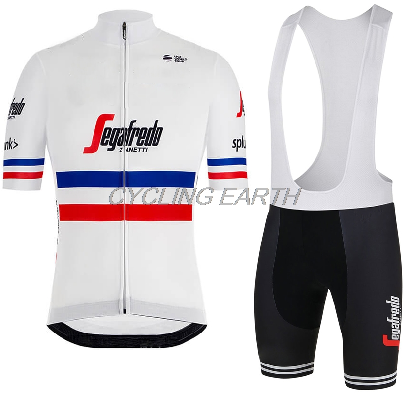 2019 French Champion Summer Cycling Jersey Men Short Sleeve Set Clothing Clothes Bib Shorts Bicycle Shirt Breathable Sportwear