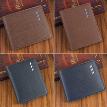 Men's Short Faux Leather Bifold Wallet ID Card Holder Money Cash Purse Clutch BW7S