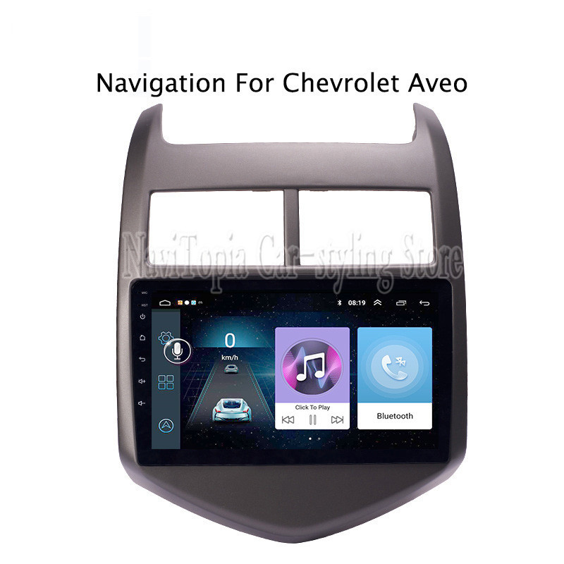 ECTWODVD 9inch Android 8.1 Car Radio GPS Navigation Multimedia Stereo DVD Player for Chevrolet Aveo/Sonic 2011 2012 2013