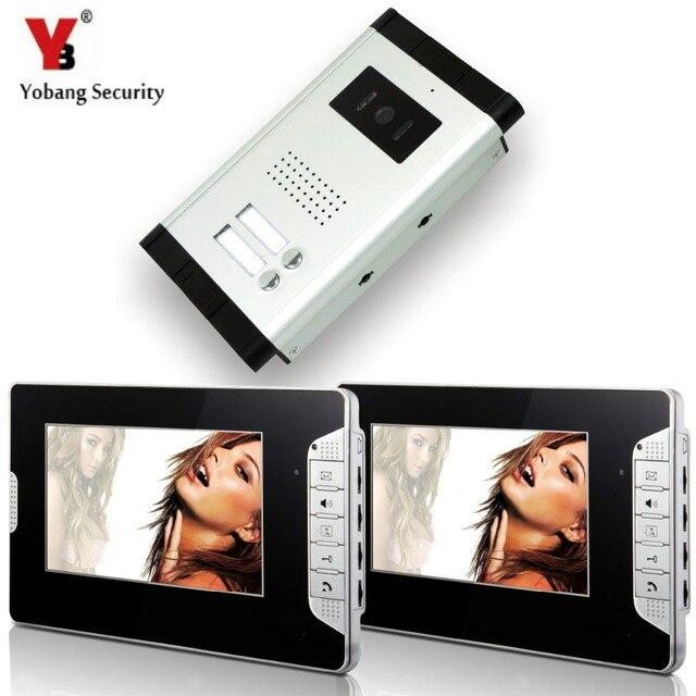 Yobangsecurity 2 Units Apartment Intercom Wired 7 Video Door Phone