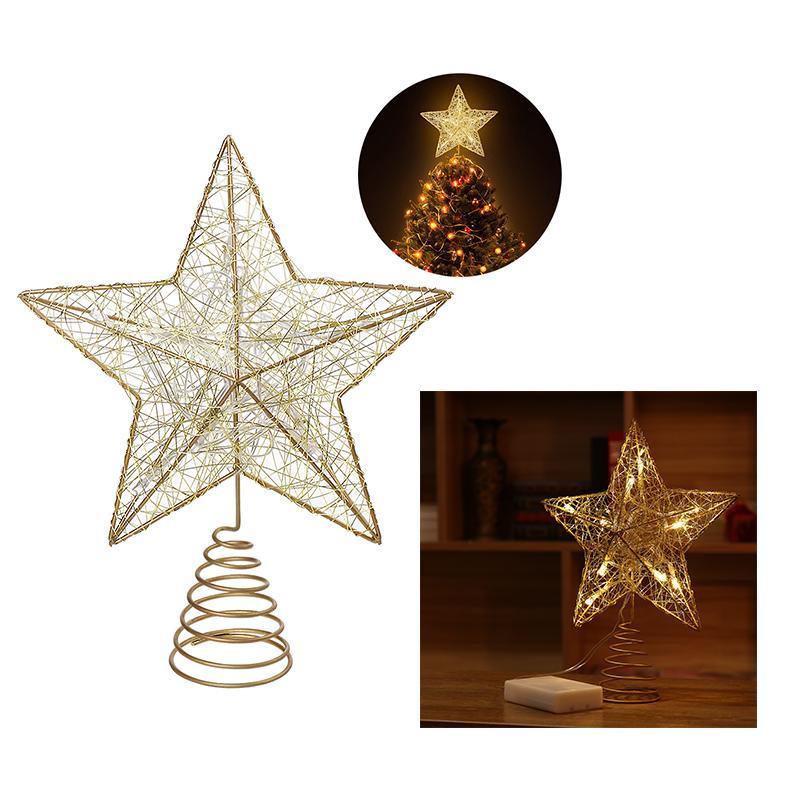 NICEXMAS Christmas Tree Topper Star Christmas Tree Decoration Star Treetop Decor 20cm