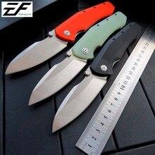 Eafengrow 0850 pocket knife D2 blade ball Bearing folding knives camping hunting outdoor survival EDC tool kitchen