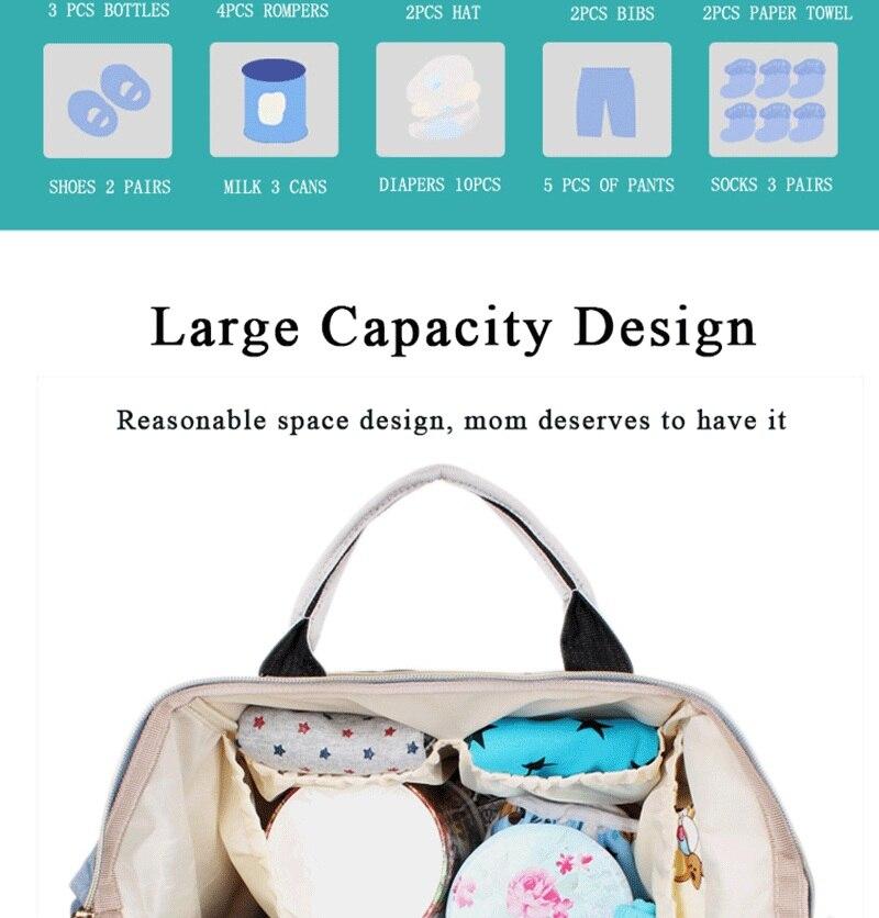 HTB1WOrRdvWG3KVjSZPcq6zkbXXac Large Capacity Mommy Maternity Bag Diaper Nappy Bag Bolsa Maternida Printed Bebe Bag Travel Backpack Desiger Nursing Baby Care
