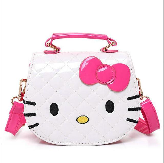 Character Shoulder Bags Cartoon Hello Kitty Bag Large Handbags For S Women Cat Shape Pink